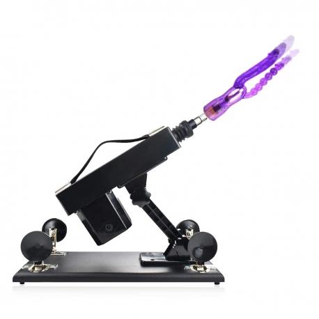 Automatic Sex Machine Retractable Gun With 5PCS Silicone Dildo Masturbator