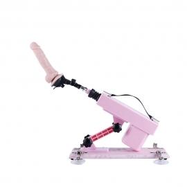 Pink Sex Machine con Dildo de silicona Premium-Pequeño