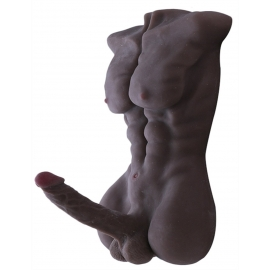 Black Real Solid  Male Sex Doll with Big Penis
