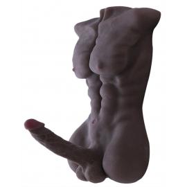 Negro verdadera muñeca de sexo masculino sólido con pene grande
